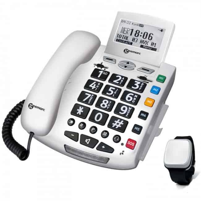 Téléphones fixes et boutons d'alerte