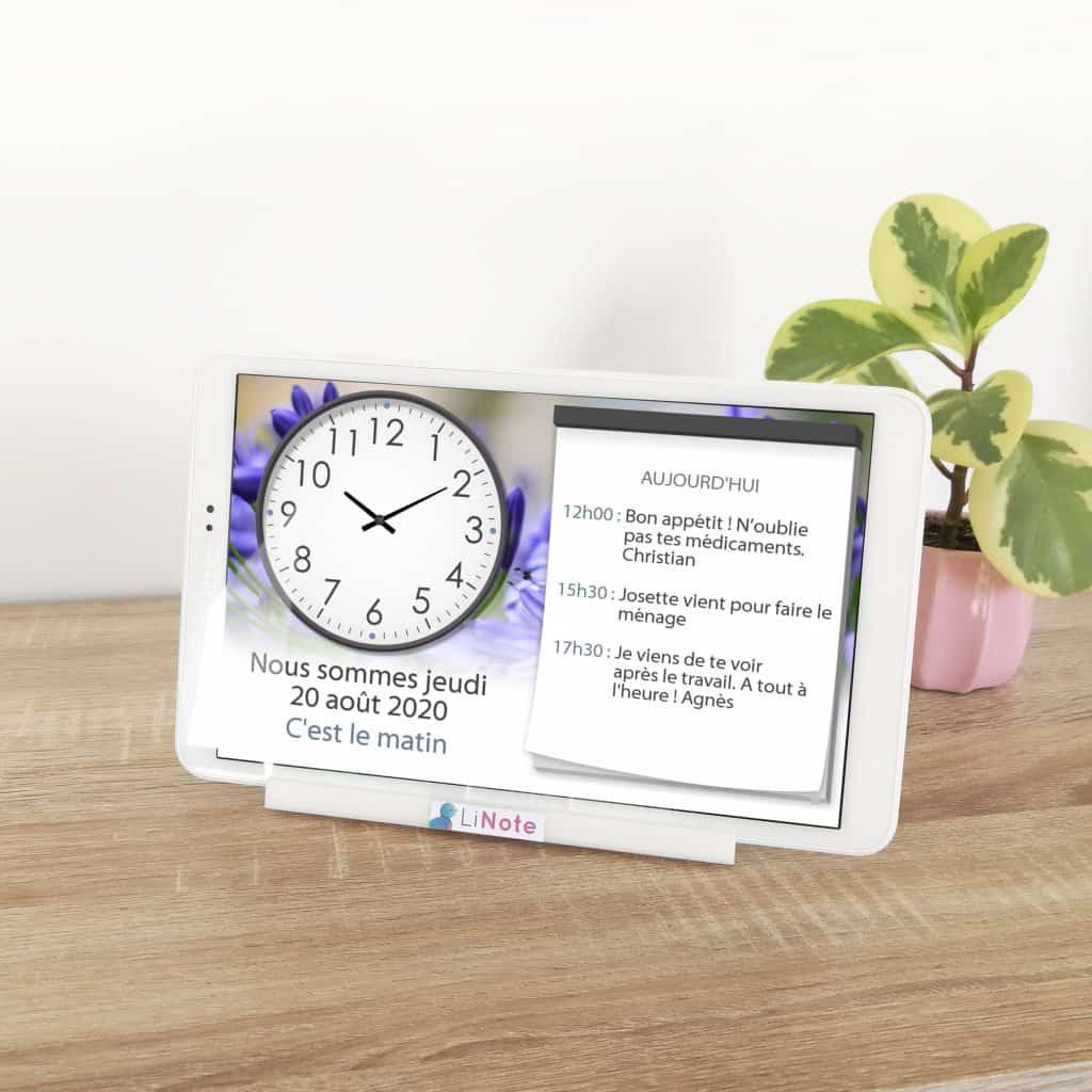 Horloge Alzheimer et agenda LiNote