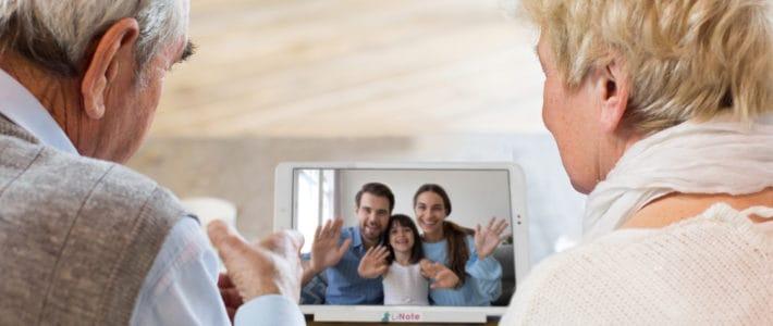 Les appels vidéo adaptés aux personnes âgées